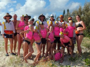 Twelve nippers and lots of helpers at the 2015 Rainbow Beach Nippers Carnival