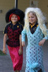 Jacob and Jasper prepare for their costumed dance!