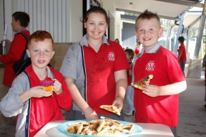 Michael Hart, Rhyanna-Mae Pache, Connor McKay fuel up for some good learning
