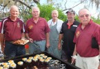 The local RSL Sub group always fire up the BBQ, helping SLSC volunteers feed the thousands of people hundreds of burgers and snags for the Rainbow Beach Nipper Carnival - this month you will find John Molkentien, Trevor Ansell, Pat Nayler, Dave Tardrew and Joe Casey commemorating Remembrance Day on the 11th