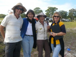 Cherie at an athletics carnival with Pete Mileson, Sue Arthur and Tori Lidbetter