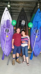 Glen and Michelle Heaton launch SeaBreeze Kayaks in Cooloola Cove