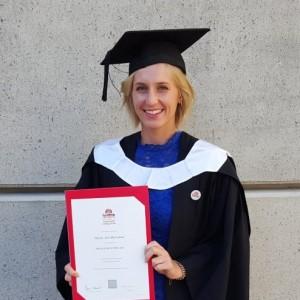 Hayley McFarlane at her graduation ceremony