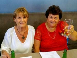 Sabine and Jenny celebrate
