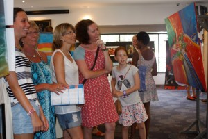 Locals and visitors can enjoy viewing the 2016 Brushes by the Sea Art Festival at the Sports Club this month