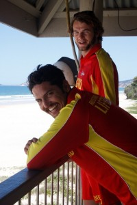 New long term full time lifeguard, Liam Toohey and with fellow lifeguard Paddy O'Shaughnessy