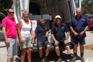 The team at Cooloola Wholesalers reported sales were up on last year this summer: Dean Shepherd, Fiona Border, Alan Dewhirst, Dave Caruzzo and Stephen Border