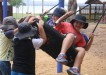Is it more fun pushing or swinging?