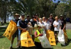 Representatives from the Coastguard, Tai Chi and Lioness Club join the Fishing Club to Clean Up Australia Day on March 6
