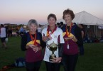 Cooloola's Great Grand Dragon State Representatives Jan Hughes, Norma Sanderson and Elaine Dimock at the 2010 Dragon Boat National Championships in Adelaide
