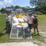 Grant Phelan from QPWS and wonderful parents like Glenda and Errold Misso (who even gave up his birthday) took away the rubbish away from Rainbow Beach State School