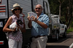 Tony and Rosie Stewart left town last month to bring supplies out west