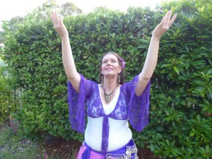 Artistic director Jess Milne is ready to belly dance and share some Laughter Yoga on March 8