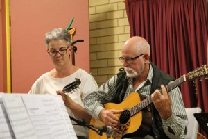 Sue Flower and Lucien Lowe mandolin and guitar.