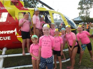 Nippers receive a visit from the Westpac Rescue Helicopter