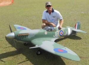 Tony Benstead's Mk 9 Spitfire, 3 metre wingspan, DA 85cc engine