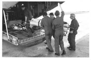 No 3 RAAF Hospital conducts Aero Medical Evacuations (AME) in both peace and war time