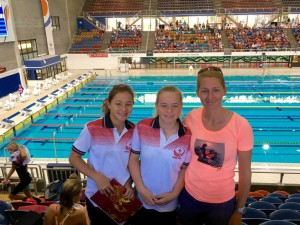 Mum Dee White cheered on both daughters Annie and Jasmin at Chandler last month