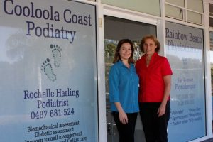 Podiatrist Rochelle Harling with mum, Physiotherapist Sue Bennett, welcome you to their new Rainbow Beach clinic at the Top Shops