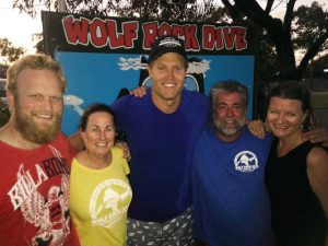 Dr Chris Brown from The Living Room dived with the team from Wolf Rock Dive Centre