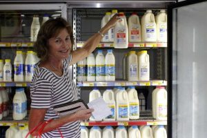 Rosie Stewart selects milk from local farmers