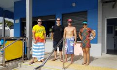 Hervey Bay cyclists Troy Gelth, Colin Write, Lars Olsen and Brandi Alberts rode to Rainbow Beach and back - just for fun!