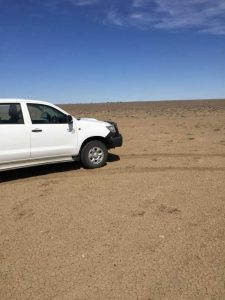 This property had 30 mm rain last October and then 14mm in early June. They have had more rain around June 15, but as you can see it is bare dirt. Image Tony Stewart