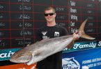 Byron Rush from Rainbow Beach brought in this whopper a 14.855kg Amber Jack, which was topped by Kane Maley from Caboolture and his 23.010kg Spanish mackerel in the Big Fish category