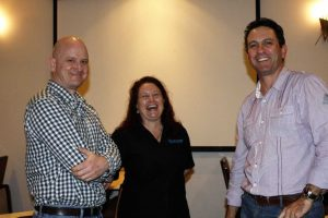 Chamber President Mark Beech and Treasurer Heatley Gilmore were proud to host Susan Maynard from Visit Sunshine Coast