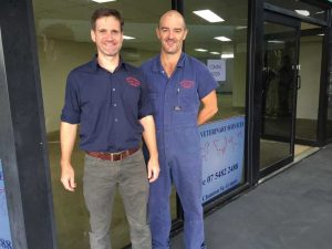 Vets Shannon Coyne and Justin Schooth look forward to moving Tin Can Bay Vets into the new premises this month!