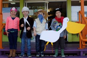 Little Bush Maid Kiara,  Blake the Swagman, Man from Snowy River Darcy and Seb as a very clever Stormboy by Colin Theile