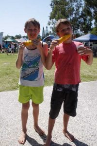 Fun for all ages - Tristan Sik and Clive Crowley enjoy last year's Spring Festival