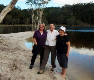 Therese Skuthorpe, Maryanne Vickers and Carmel Darcy at Lake Poona