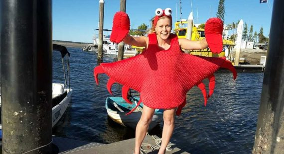 Yvonne Jensen is the creator behind the new Seafood Festival mascot and characters