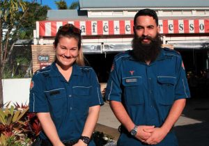 Paramedics Airlie Paynter and Marc Shearman encourage everyone to learn CPR