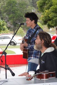 Performers Shane Andersen and Adrian Van de vorst wowed at the Pig Day Out