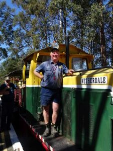 Local Dave Caruzzo volunteers at Woodford Railway twice a month! Image Gay Liddington