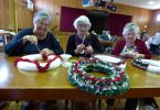 Making a Christmas Wreath, Ros Ruddle, Dalma Nobbs and Nancy Edwards