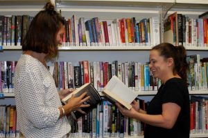 Sam Permezel and Emma Thompson talk books - and you can too on the first Thursday of the month at Rainbow Beach Library