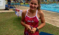 Jasmin White from Rainbow Beach and the Warriors Swim Club
