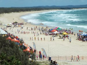 There were huge crowds on the beach at last year's Nippers Carnival