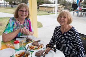 Evonne Jeffrey and Del Nayler treated the Over 60s to some pretty good nibbles and dessert at Phil Rogers Park