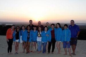 The first delegation from Singapore were impressed by our location - and the sandblow!