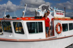 Lorraine Price and Martin Owens on the revamped Dolphin Ferry