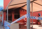 A fire destroyed the Coloured Sands cafe and neighbouring business last month Image Barb Rees