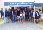 Club sponsors, Melanie and Steve May and family, were presented with the Certificate of Appreciation under the new marquee at the Club's Annual General Meeting