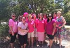 With a show of pink, the school staff raised cash to prevent cancer Image supplied