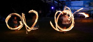 As well as fireworks at 9.30pm, the Rainbow Beach Fire Twirlers will show their stuff at the Tin Can Bay Foreshore New Year's Eve Celebration