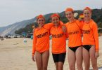 After graduating as surf lifesavers in the September course, some of these 13 year olds did their first rescue on their very first patrol: Abby Schooth, Hugh Gilmore, Jorja Duggan and Keely Falconer