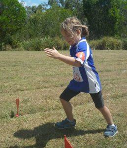 Amanda Geurts practising her running starts